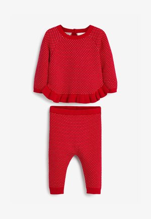 SPOT PATTERN - Tracksuit - red