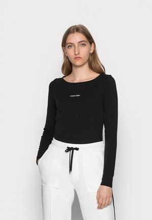 MINI CALVIN KLEIN - Long sleeved top - black