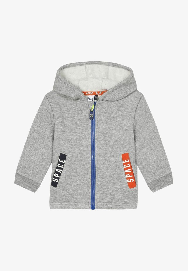 Zip-up hoodie - mid china grey
