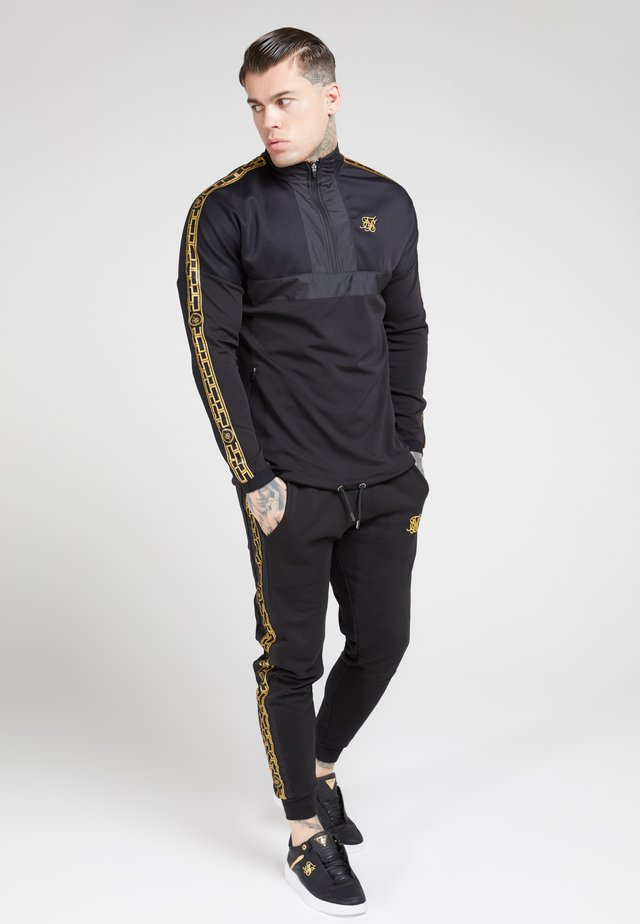 EVOLUTION HALF ZIP TRACK TOP - Felpa - black & gold