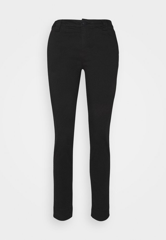 SLIM TAPER MID RISE  - Chino - black