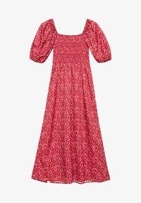 Missguided Tall - MILKMAID SHIRRED BUST MIDI FLORAL - Maxi dress - red - 0