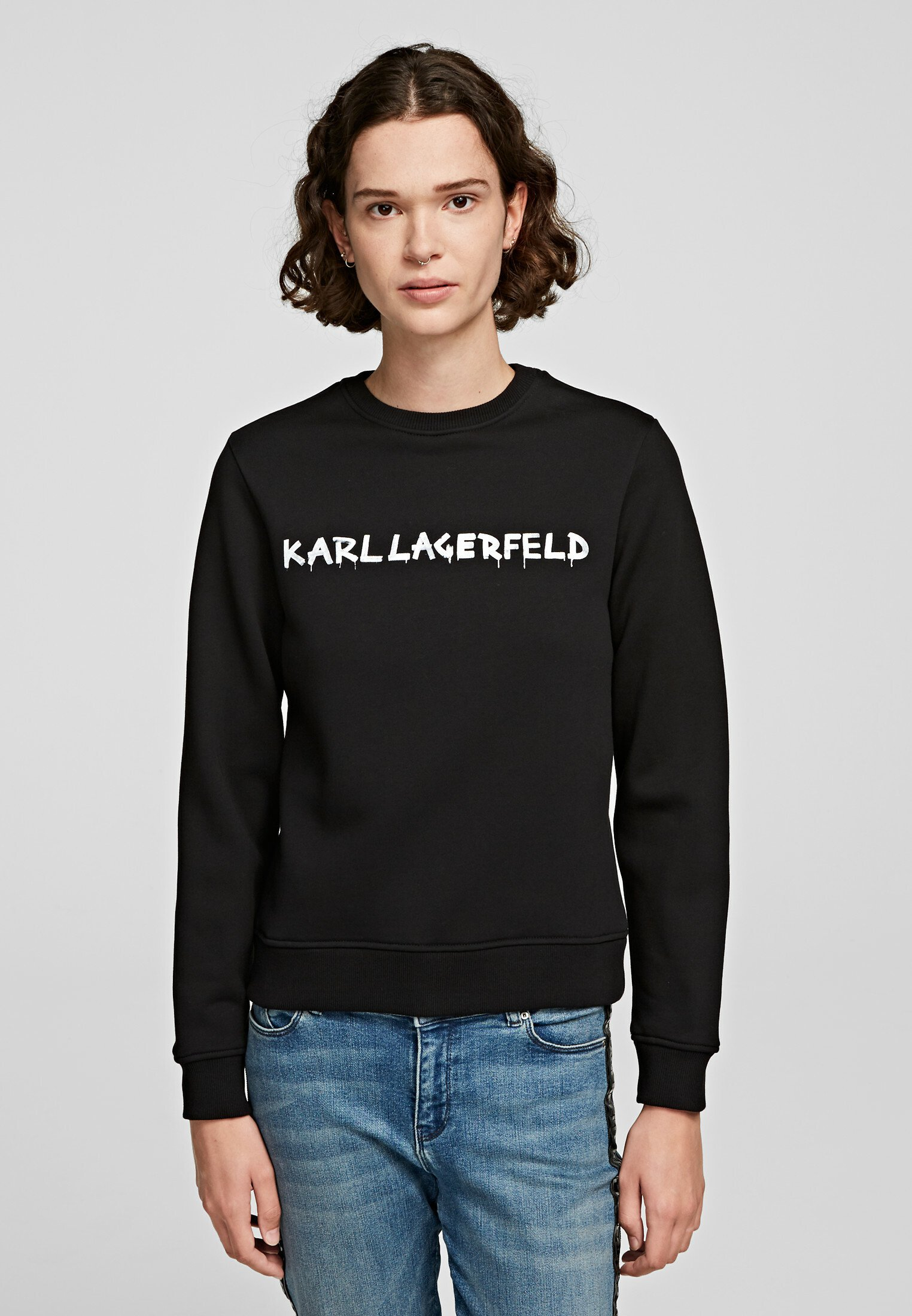 Shopping Women's Clothing KARL LAGERFELD Sweatshirt black e5LNEK4YM