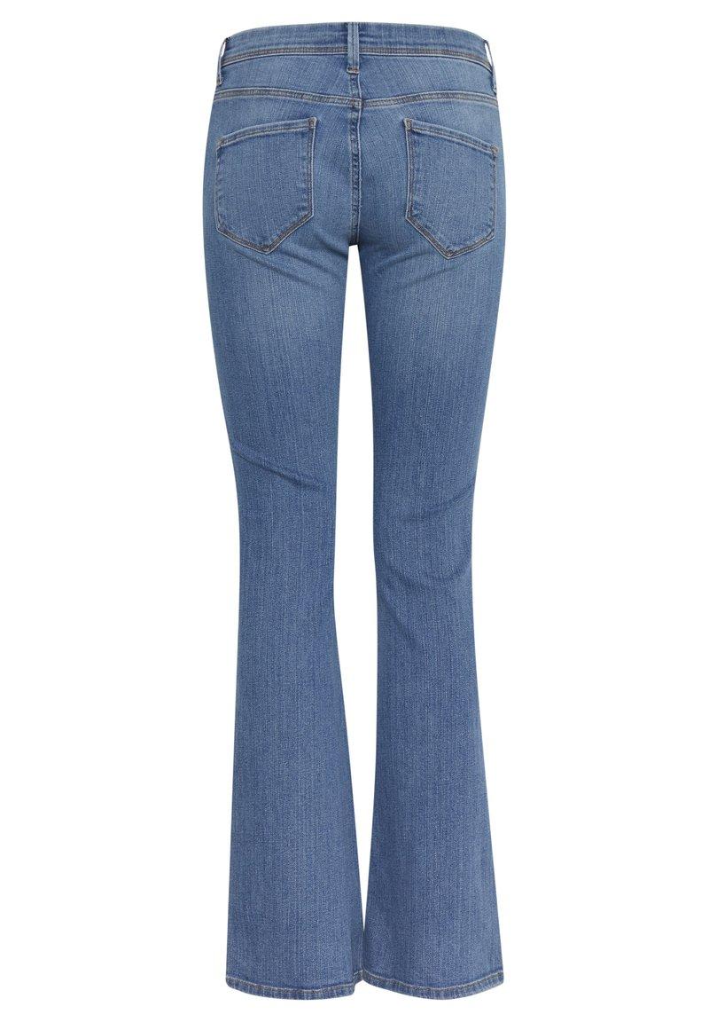 ICHI IHERIN HASSE TREND - Jeans Bootcut - light blue/light-blue denim 7qjjbq
