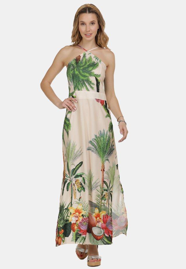 Vestito lungo - tropical print