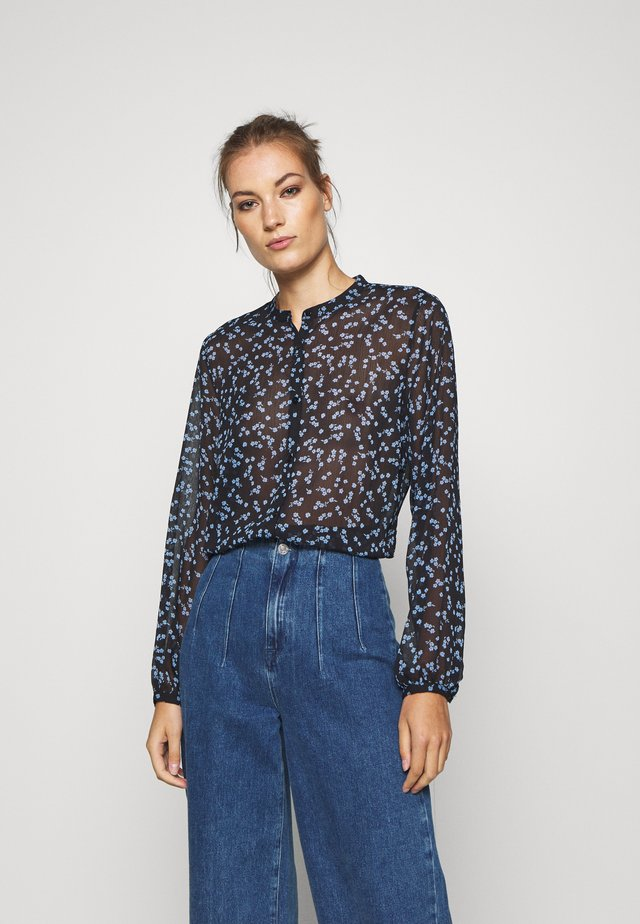 TINYA PRINT - Blouse - black/light blue