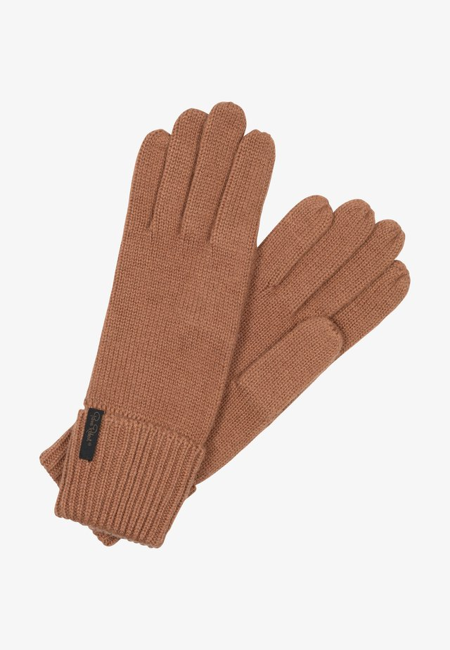 Gloves - dark camel