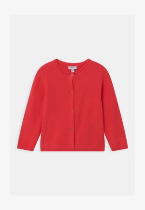 Strikjakke /Cardigans - poppy red