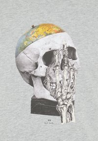 PS Paul Smith - MENS SLIM FIT GLOBE SKULL - T-shirt con stampa - mottled grey - 2