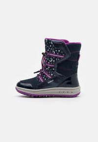 Geox - ROBY GIRL WPF - Zimní obuv - navy/cyclamen - 0
