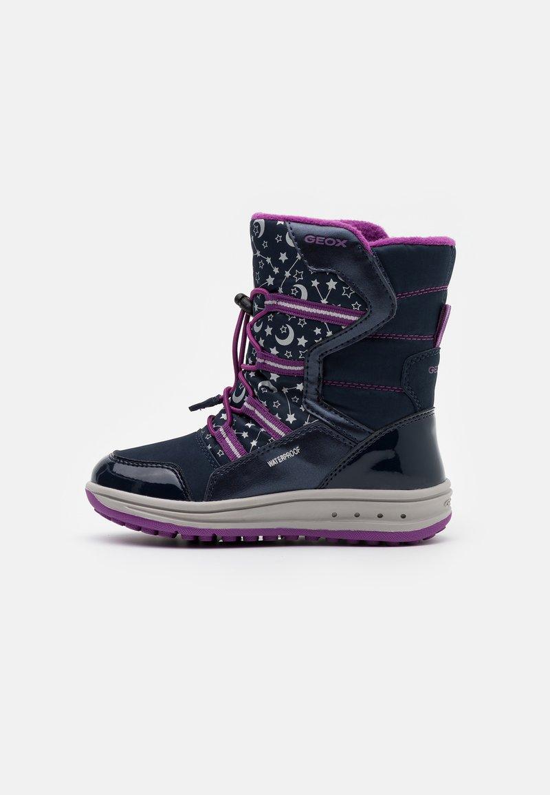Geox - ROBY GIRL WPF - Zimní obuv - navy/cyclamen