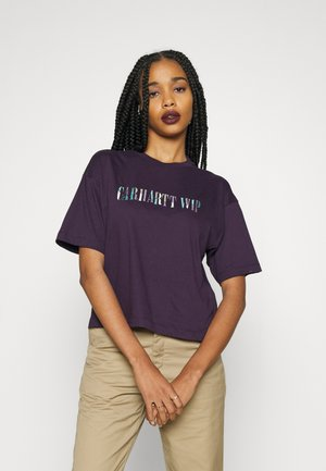 JAGGED SCRIPT - Print T-shirt - dark iris