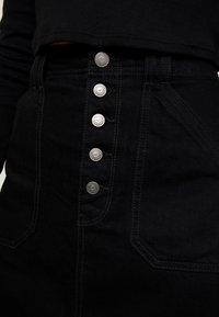 Hollister Co. - BLACK SKIRT - Denimová sukně - black - 4