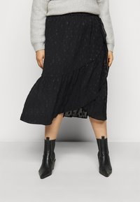 Pieces Curve - PCPERSILLA  - A-line skirt - black - 0