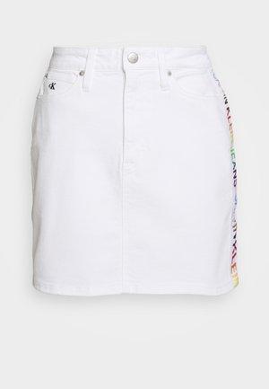 SKIRT - Denim skirt - denim white