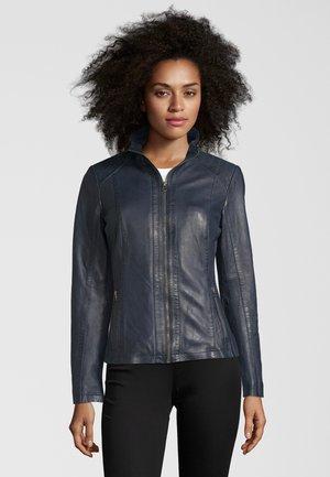 CHIARA - Leather jacket - navy