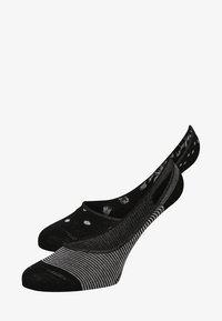 Marc O'Polo - 2 PACK - Trainer socks - black - 0