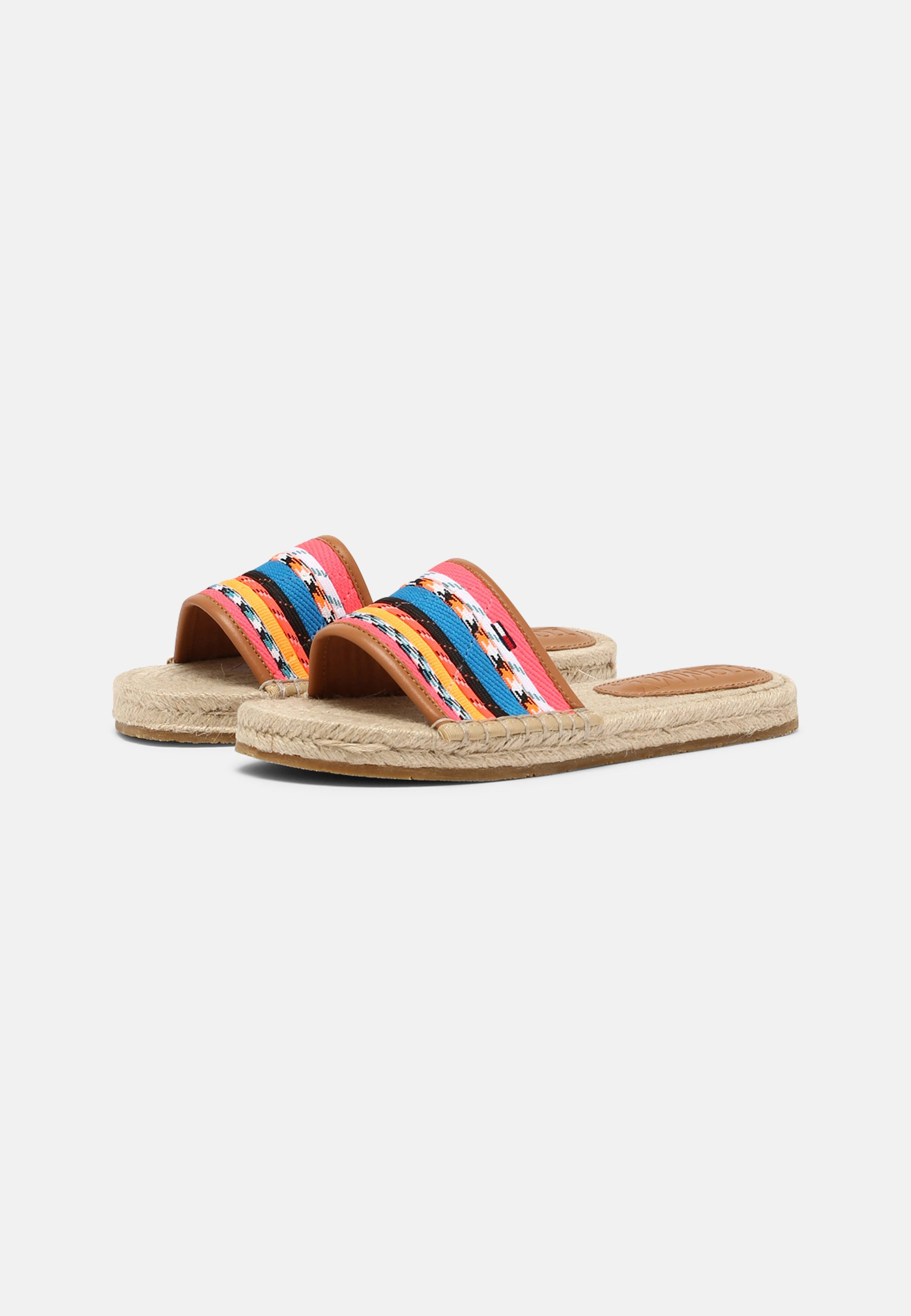 Women COLORED LACES FLAT - Mules