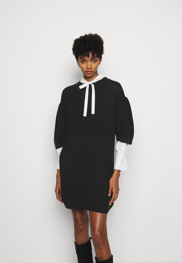 Jumper dress - obsidian black