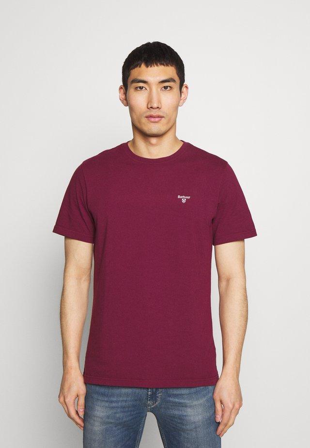 LOGO  - Basic T-shirt - ruby