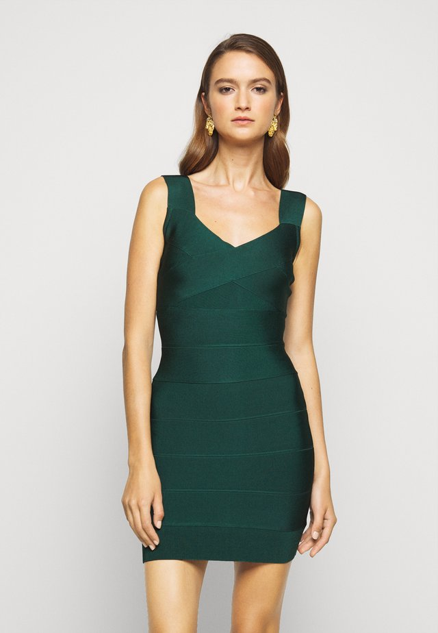 NEW ICON CRISS CROSS BUST - Shift dress - green
