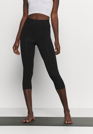 LEGGINGS 3/4 - 3/4 sports trousers - black