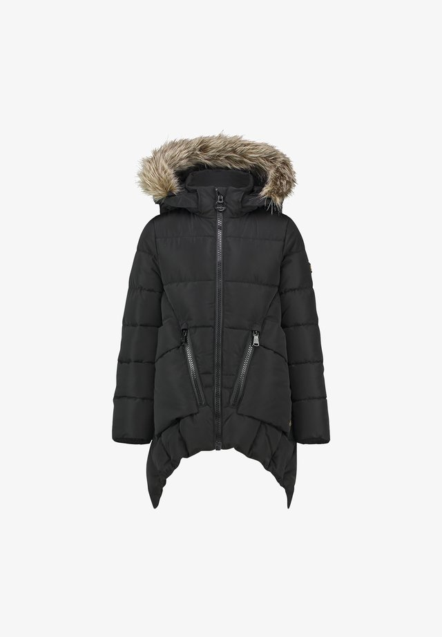 TELINE - Winter coat - deep black
