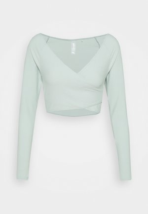 ONPJANA TRAIN CROP - Long sleeved top - gray mist