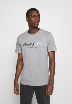 T-shirts med print - mid grey heather