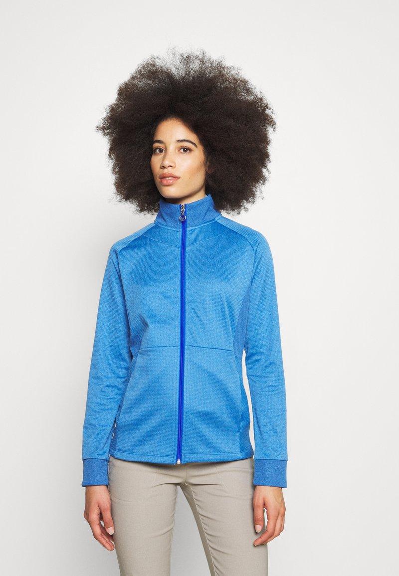 Callaway - MIDWEIGHT WAFFLE - Zip-up sweatshirt - blue tattoo heather