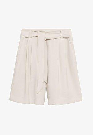 FLIESSENDE BUNDFALTEN - Shorts - beige