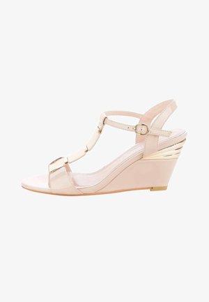 TASSO - Wedge sandals - pink