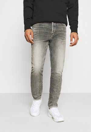 FINING - Jean droit - washed black