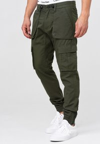 INDICODE JEANS - Cargo trousers - army - 3
