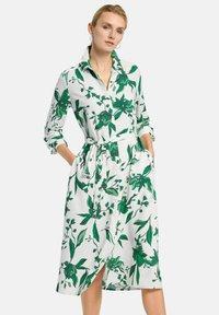 PETER HAHN - Shirt dress - weiß/grün/multicolor - 0