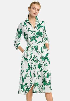 Shirt dress - weiß/grün/multicolor