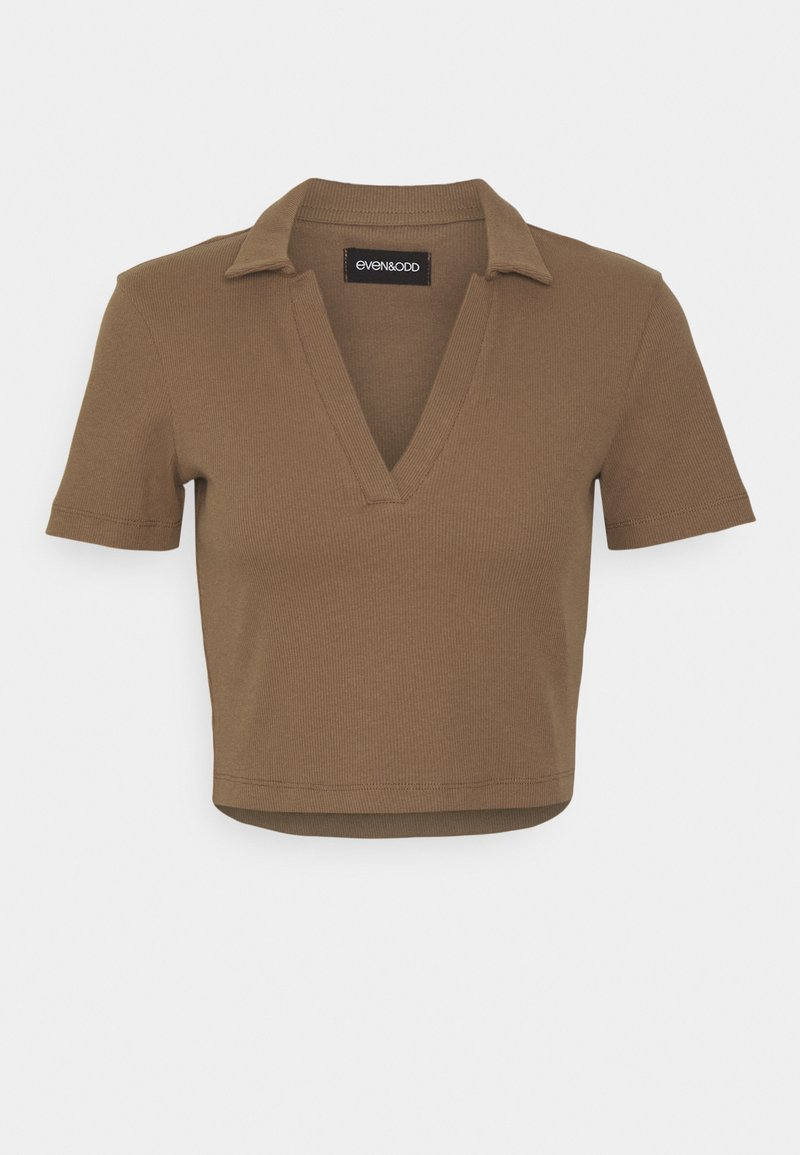 Even&Odd - T-shirts med print - brown