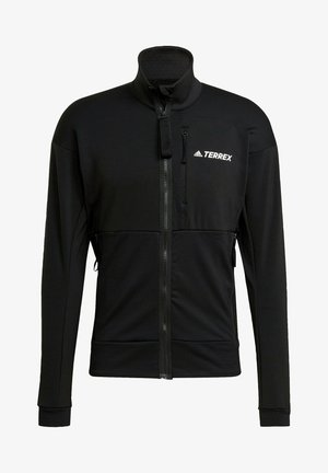 TERREX TECH FLEECE HIKING JACKET - Fleecetakki - black
