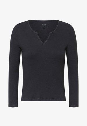 PLAIN WHITE COTTON - Pyjama top - dark grey