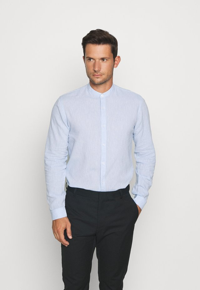 MANDARIN COLLAR SHIRT  - Shirt - light blue