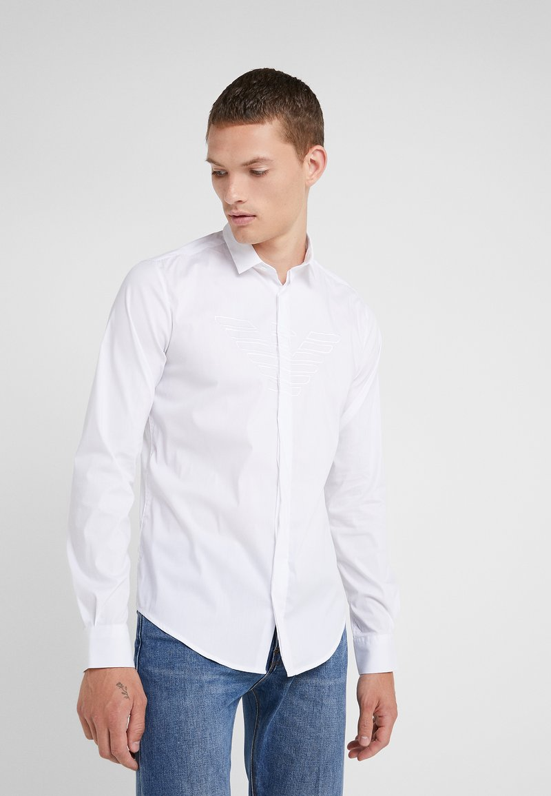Emporio Armani - CAMICIA SLIM FIT - Skjorte - bianco ottico