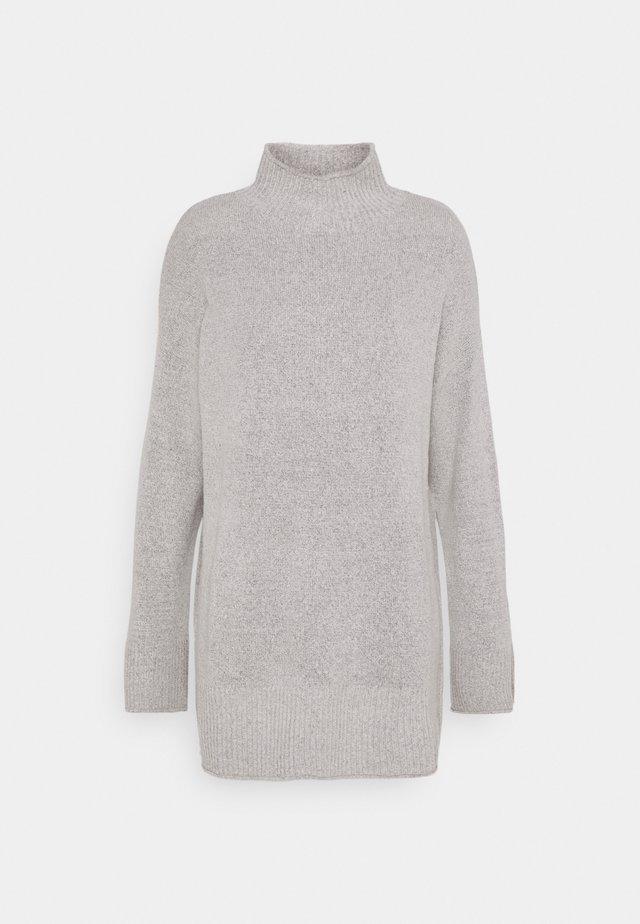 TURTLE NECK - Sweter - light grey melange