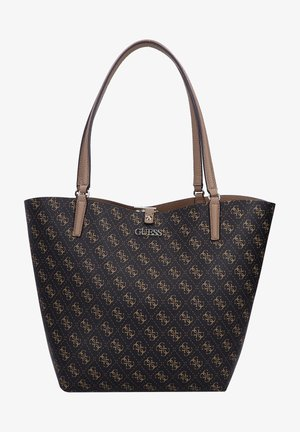 Shopper - brown logo/mocha