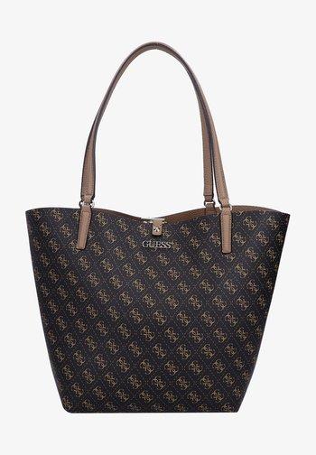 Tote bag - brown logo/mocha