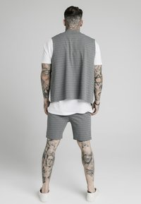 SIKSILK - Chaleco - black  white - 2