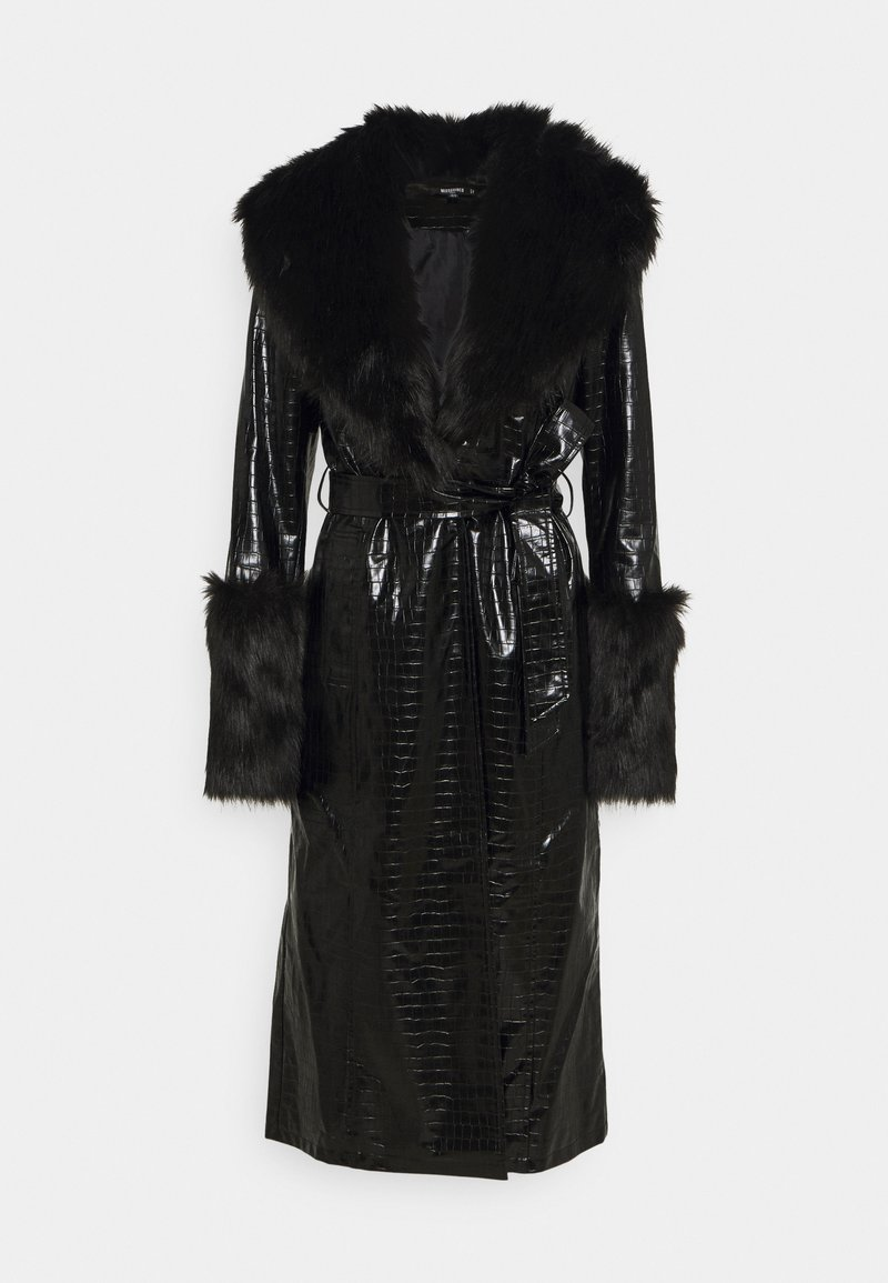 Missguided Tall - CROC - Trenchcoat - black