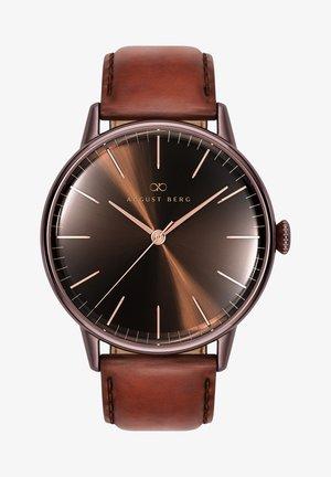 UHR SERENITY CUPPA BROWN DARK BROWN LEATHER 40MM - Watch - sunray brown