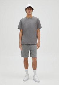 PULL&BEAR - 3 PACK - T-shirt - bas - white - 0