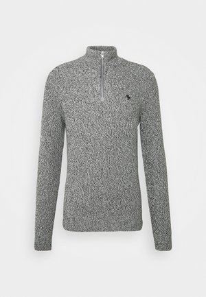Sweter - textured grey