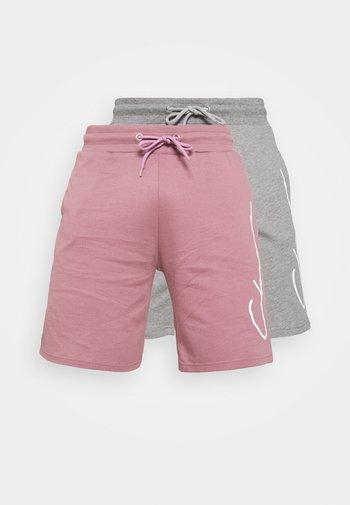SCRIPT 2 PACK  - Pantalones deportivos - greymarl/rose